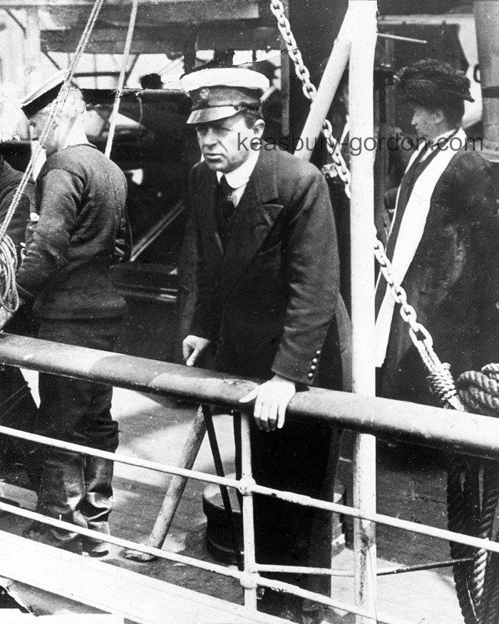 Captain Scott on board the SS Terra Nova