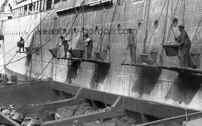 Coaling an Ocean Liner, Southampton