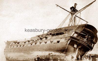 HMS Foudroyant on Blackpool Beach